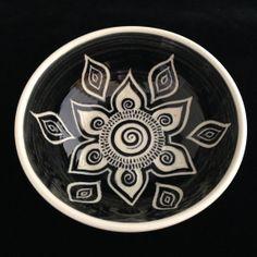 Sgraffito Carved Mandala Bowl by Paula Focazio Art & Design