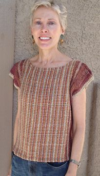 woven tee - Judith Shangold  - really like this design - love the color combination