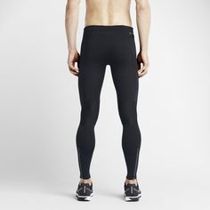 ad60f31839e67 Nike Power Tech Men's Running Tights - Black Stretch Fabric, Black Tights,  Mens Running