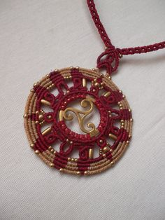 The power of the Trisquel in Macrame mandala necklace!