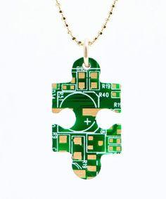 Puzzle Printed Circuit Board Pendant