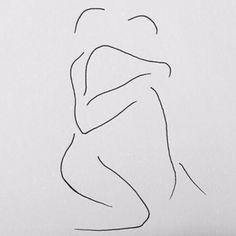 my secret beach Dark Art Drawings, Pencil Art Drawings, Art Sketches, Line Drawing, Painting & Drawing, Canvas Art Projects, Outline Art, Desenho Tattoo, Abstract Line Art