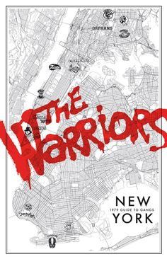 The Warriors poster from The Popular Face of New York collection