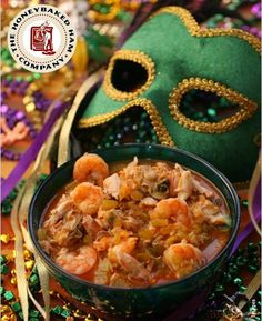 From Mardi Gras to PARTY Gras in just a few minutes... Thanks to HoneyBaked turkey (click on the link in the post for our easy-to-make yummy recipe)!