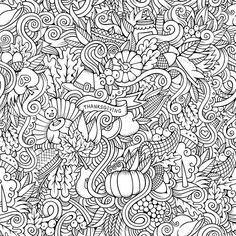 Thanksgiving Doodle Coloring Canvas Color Your Canvas Relieve stress while creating art for your walls with a Color Your Canvas. Each piece is printed on high quality canvas and then mounted to a stur