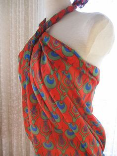 CINTEMANI Print Pareo sarong swimsuit cover up by nurdanceyiz, $20.00