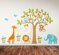 Safari Playland Nursery Wall Sticker Mural - Wall Sticker Outlet