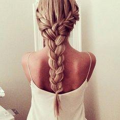 Cute Back French Braid