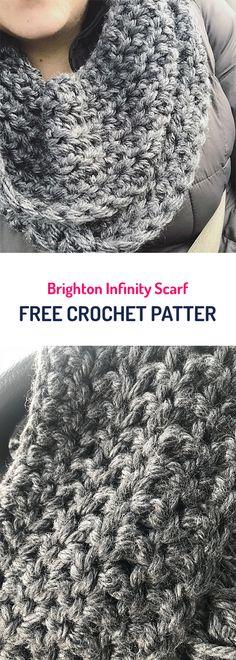 Brighton Infinity Scarf Free Crochet Pattern #crochet #fashion #style