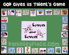 Seven and Seven Printable Bible Board Game for Sunday School and Children's Ministry from www.daniellesplace.com