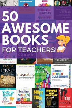 50 Awesome Books for Teachers I love to read! And my professional learning bookshelf is always full as well as my Kindle app! So I decided to put together this HUGE list of books for educators, 50 Awesome Books for Teachers! Special Education Teacher, New Teachers, Elementary Teacher, Elementary Education, Childhood Education, Teachers Toolbox, English Teachers, Math Education, Primary Education