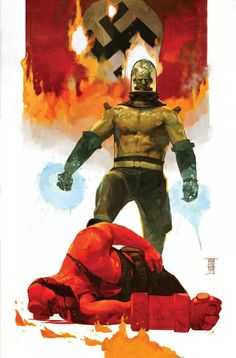 Hellboy vs. Herman von Klempt by Alex Maleev