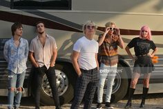 Ellington Ratliff, Rocky Lynch, Ross Lynch, Riker Lynch and Rydel Lynch of the Pop Band at Elitch Gardens on June 2017 in Denver, Colorado. R5 Band, Rocky Lynch, Love Of My Life, My Love, Riker Lynch, Austin And Ally, Pop Bands, My Crush, Fangirl