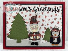 Gift Vouchers, Winter Cards, Penguins, Greeting Cards, Seasons, Friends, Projects, Fun, Inspiration