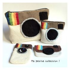 Isabelle Kessedjian is the best! Look at these awesome Instagram pouches she crocheted! Great work!