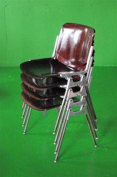 Castello STACKING CHAIR by GIANCARLO PIRETTI ITALY 1965 ヴィンテージ スタッキング チェア