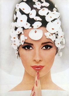 "Revlon's ""La Dolce Look""  Vogue UK, March 1965  Model: Wilhelmina Cooper"