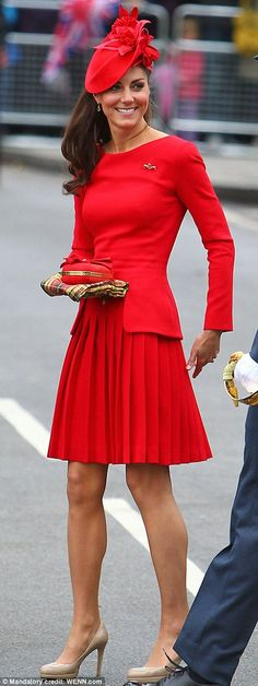 The Duchess of Cambridge wears Alexander McQueen for The Queen's Diamond Jubilee
