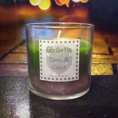 Slytherin scented 4oz candle- cool and crisp
