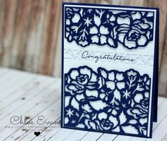 Congratulations - Floral Phrases and Detailed Floral Thinlits, Chlos Craft Closet, Stampin' Up!, Chloe Evans,