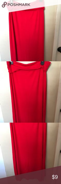 LAST CHANCE NWOT Red Maxi Skirt Size Large NWOT Red Maxi Skirt Size Large. I ordered a small and received a lg. This is much too big for me. So my los is your gain. Skirts Maxi