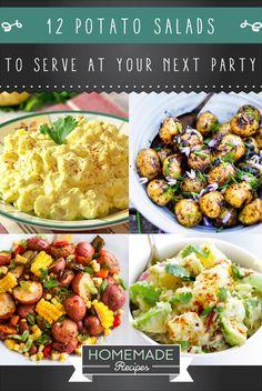 12 Potato Salad Recipes To Serve At Your Next Party | http://homemaderecipes.com/12-potato-salad-recipes/