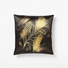 Golden Feathers Silk Pillow Cover #westelm