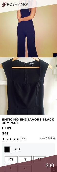 Black jumpsuit Never worn, lulus black jumpsuit. Lulu's Other