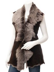 The ultimate indulgence, a genuine toscana shearling gilet in brown and silver. The styling on this design is left understated with hook and eye fastening and no . Long Fine Hair, Coats For Women, Jackets For Women, Black Leather Biker Jacket, Sheepskin Jacket, Duffle Coat, Stamford, Shearling Coat, Amazing Women
