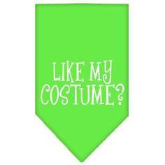 Like my costume? Screen Print Bandana Lime Green Large