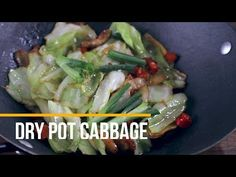 Learn how to make simple but very yummy pork and cabbage stir fry, named as Chinese cabbage dry pot in China. One week ago, I visited a very famous. Raw Cabbage, Pork And Cabbage, Cabbage Stir Fry, Fried Cabbage, Chinese Cabbage, Roast Chicken Recipes, Pork Recipes, Vegetable Recipes, Asian Recipes