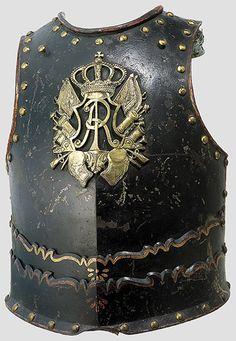 Coraza de oficial de los Coraceros de Sajonia - C 1720