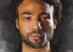 Gambino, Digital Painting, by Tomcii: Art