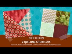 2 quilting shortcuts you didn't know about video tutorial-byTERESADOWNUNDER Check out these 2 shortcuts. One of them makes four 3 patch quarter square triangle at once. The other one makes two quilt blocks Beginner Quilt Patterns, Quilting For Beginners, Quilt Block Patterns, Quilting Tips, Quilting Tutorials, Pattern Blocks, Sewing Tutorials, Quilt Blocks, Paper Piecing