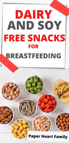 Need dairy and soy free snacks for breastfeeding? Looking for simple, grab-and-go snacks to eat quickly because your baby has MSPI? I've got you covered with this list of store bought breastfeeding snacks and products that will give you energy (and that won't hurt baby's tummy!)
