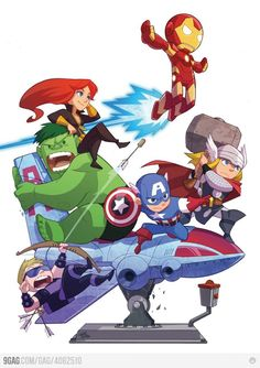Cute Avengers by Gurihiru