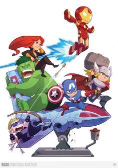 The Avengers by Gurihiru! Awesome!