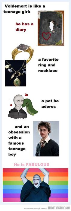 Funny pictures about Voldemort is like a teenage girl. Oh, and cool pics about Voldemort is like a teenage girl. Also, Voldemort is like a teenage girl. Mundo Harry Potter, Harry Potter Jokes, Harry Potter Fandom, Harry Potter World, Film Manga, Funny Memes, Hilarious, It's Funny, Funny Videos