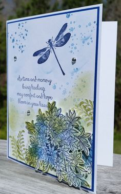 Picture 2 of 4 Cricut Cards, Stampin Up Cards, Wetlands Stampin Up, Homemade Birthday Cards, Homemade Cards, Greeting Cards Handmade, Butterfly Cards Handmade, Get Well Cards, Card Tutorials