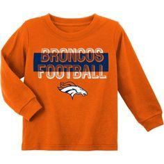 NFL Denver Broncos Toddler Long Sleeve Tee, Toddler Boy's, Size: 12M, Orange