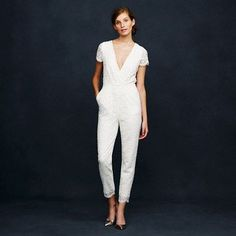 J.Crew eyelash lace bridal jumpsuit