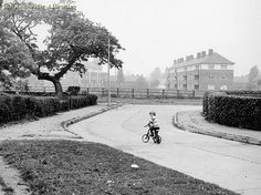 Child on Bike in Wythenshawe, 1972 Chicago Pictures, Salford, Slums, Working Class, Coming Of Age, North West, Manchester, Dates, Bike