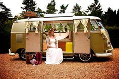 Arrive in style in a camper van. Copyright Invision Photography
