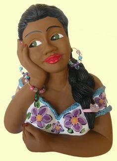 Boneca namoradeira - artesanato Brasil
