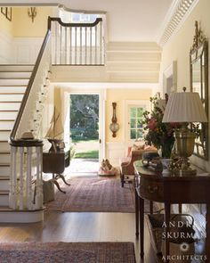 A Colonial Country House - traditional - hall - san francisco - Andrew Skurman Architects
