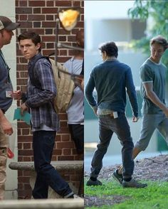 More photos from last week filming of Spiderman home coming! To holland;)<3