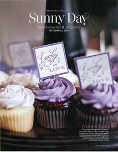 Flour & Flower Designs; As seen in InStyle Wedding magazine