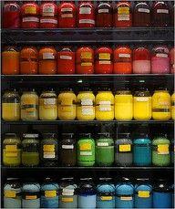 Jars of paint used in old Disney cartoons