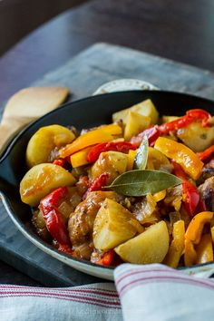 Chicken Afritada- There's nothing more comforting than a stew. Tender chicken is nestled within potatoes and sweet peppers and is a Filipino classic. As such, it is traditionally eaten over a bed of hot rice, and if you're like me, with lots of sauce.