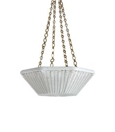 The Rattan Asscher Hanging Light - Small with Chain by Soane Britain. Hanging Lights, Wall Lights, Ceiling Lights, Wall Light Shades, Diffused Light, Spring Collection, Lighting Design, Rattan, Craftsman